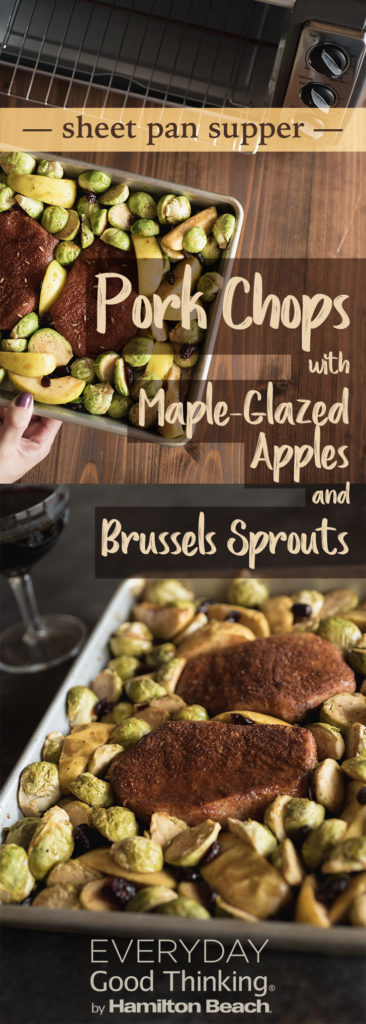 Sheet pan supper: pork chops with maple glazed apples