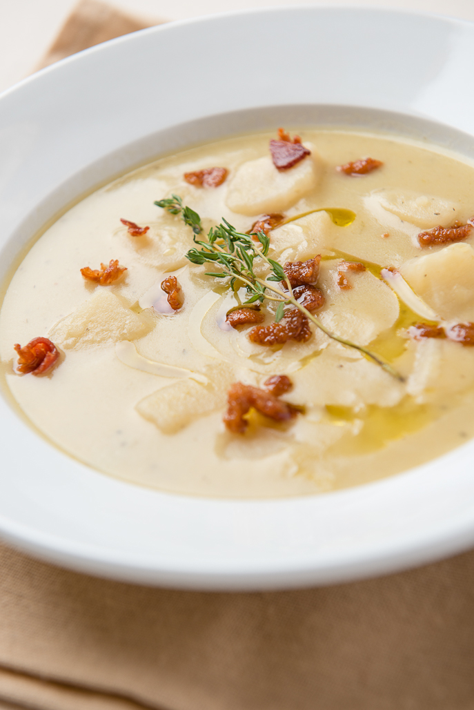 Slow Cooker Potato Leek Soup from Everyday Good Thinking, the official blog of @HamiltonBeach