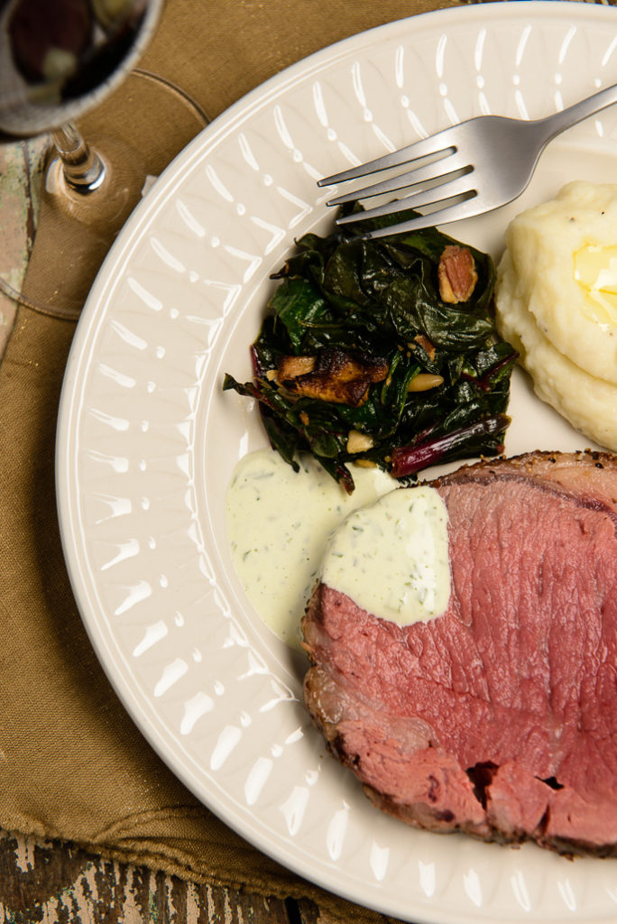 Peppered Prime Rib Beef Roast with Wasabi Cream Sauce from Everyday Good Thinking, the official blog of @HamiltonBeach