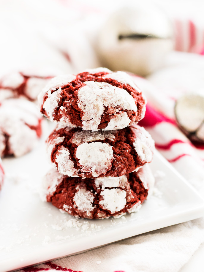 Red Velvet Crinkle Cookies from If You Give a Blonde a Kitchen