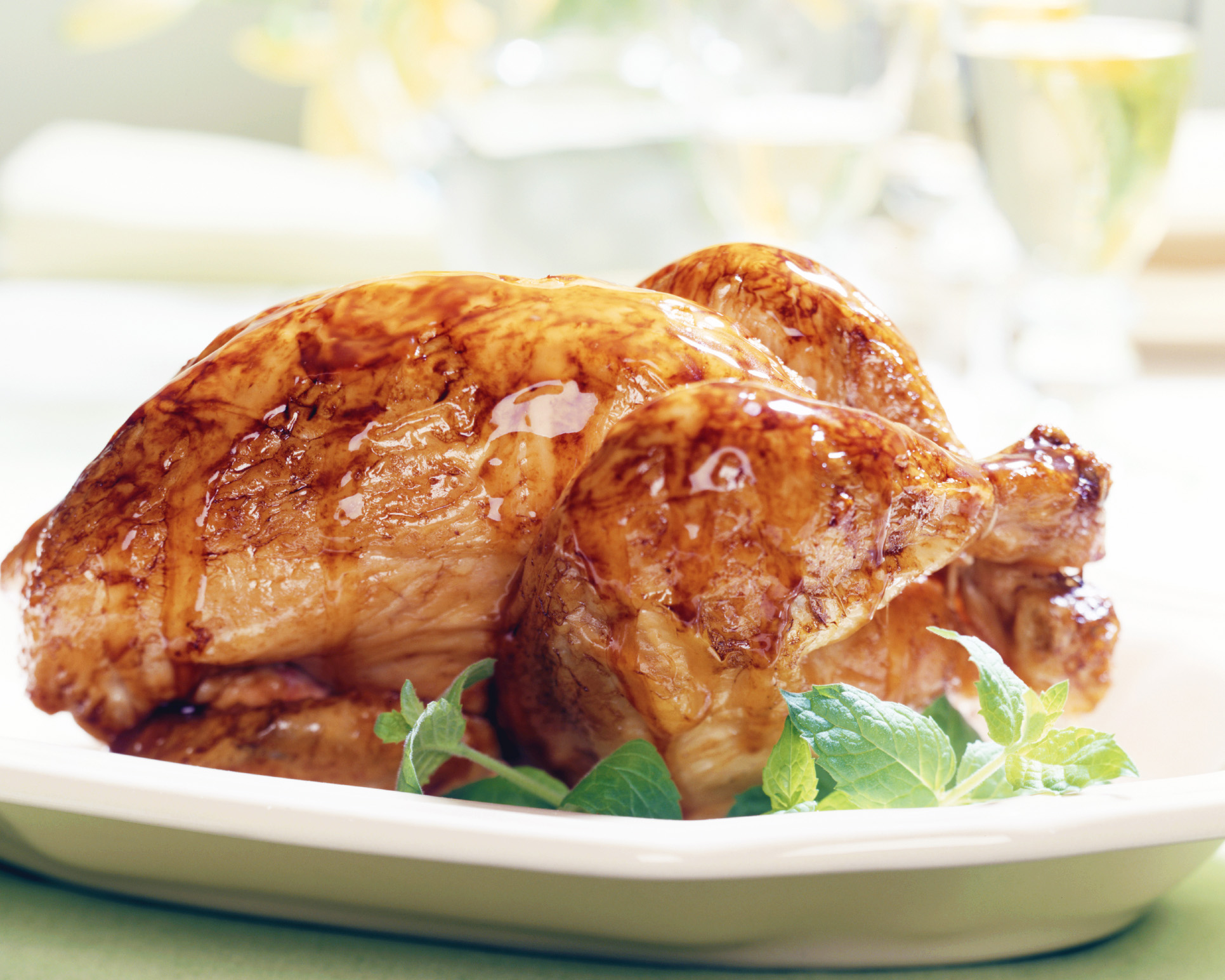 Roast Chicken with Honey Mustard Glaze from @hamiltonbeach