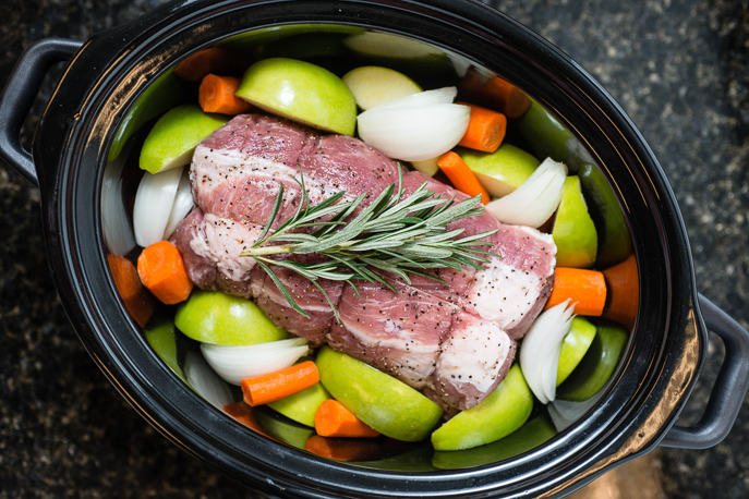 Slow Cooker Roast Pork Loin with Apples, Onions and Carrots - from Everyday Good Thinking, the official blog of @hamiltonbeach #slowcooker