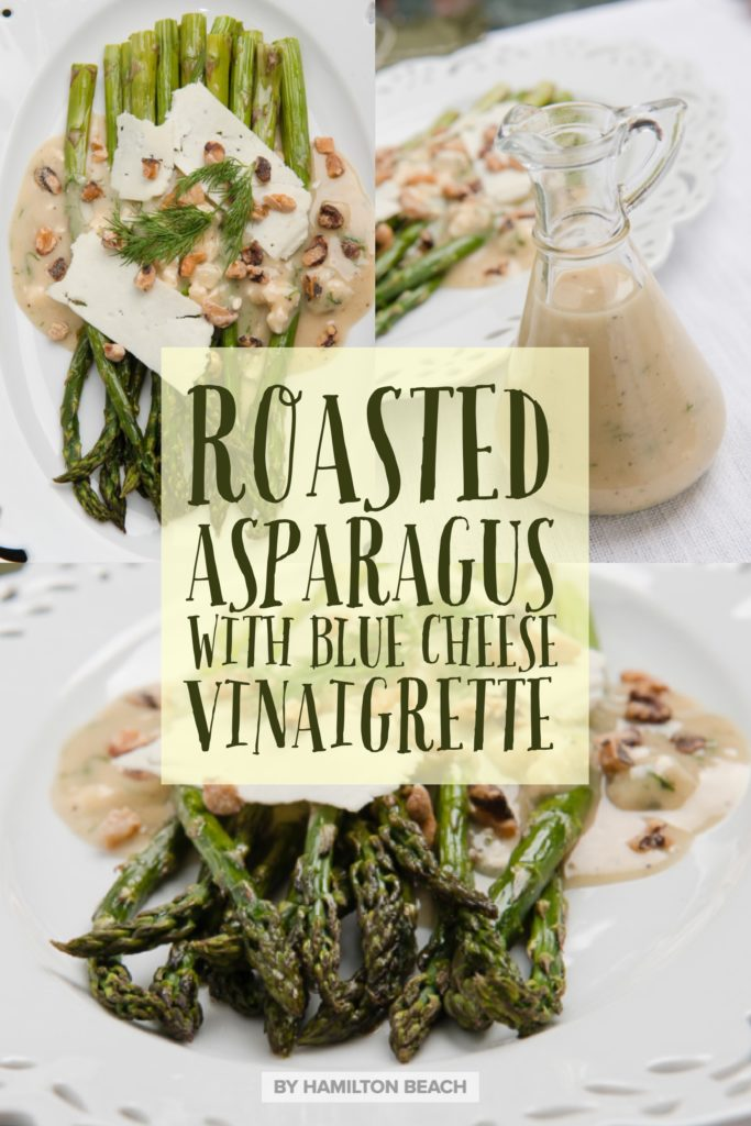 roasted asparagus with blue cheese vinaigrette