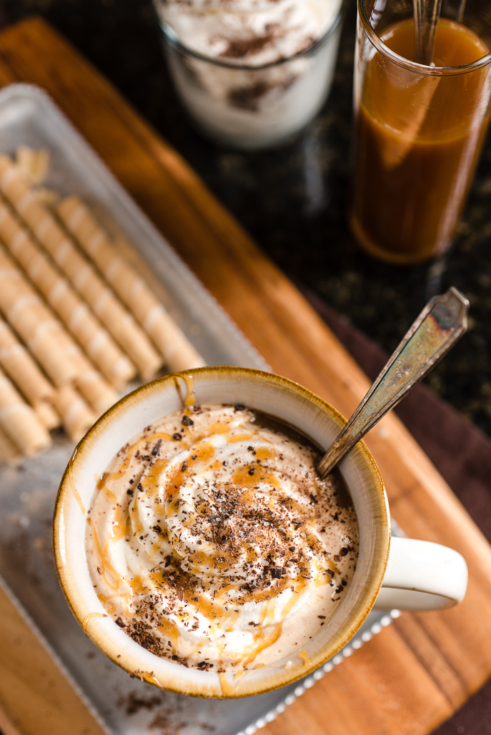 Salted Caramel Mocha Latte using the Perfect Whipped Cream from Everyday Good Thinking, the official blog of @hamiltonbeach