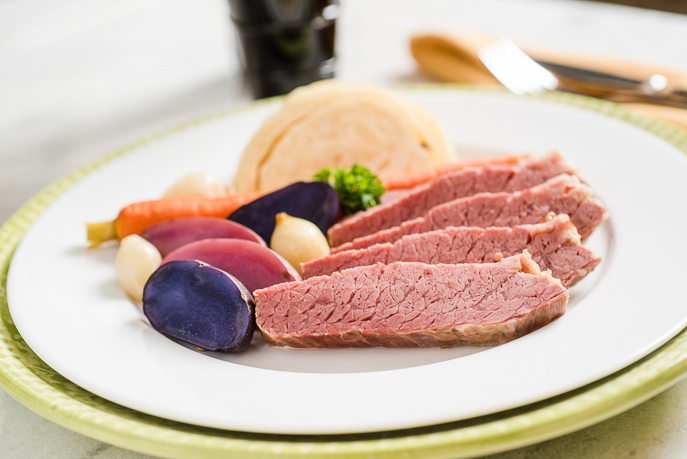 Slow Cooker Corned Beef and Cabbage from Everyday Good Thinking by @hamiltonbeach