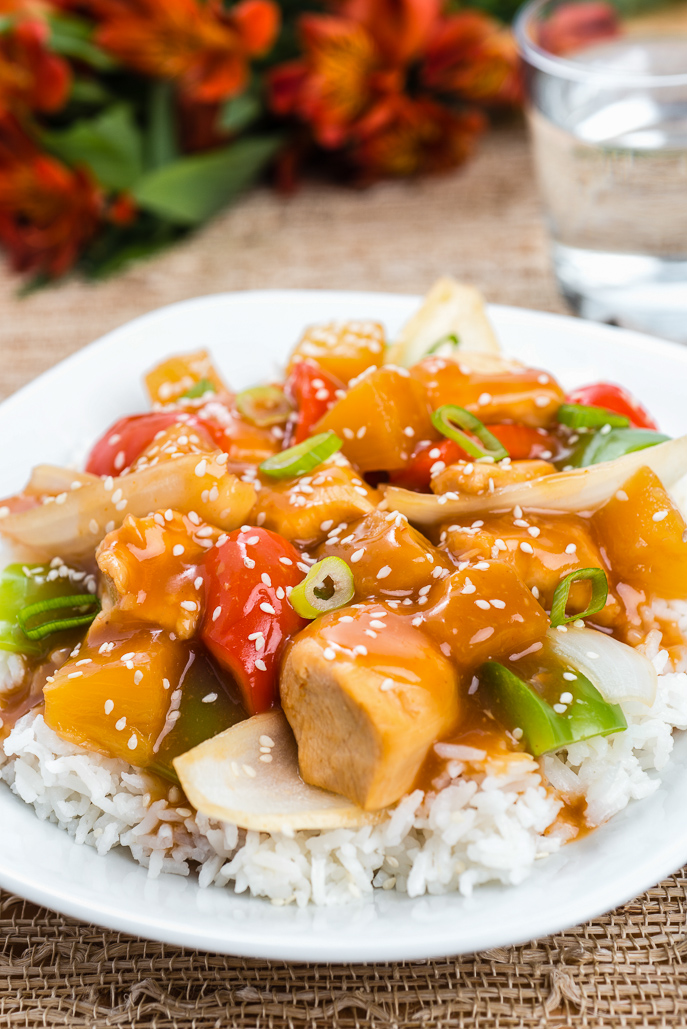 Easy Slow Cooker Sweet and Sour Chicken - easy and healthier Chinese takeout at home from Everyday Good Thinking, the official blog of @hamiltonbeach