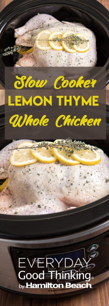 Slow Cooker Lemon Thyme Whole Chicken