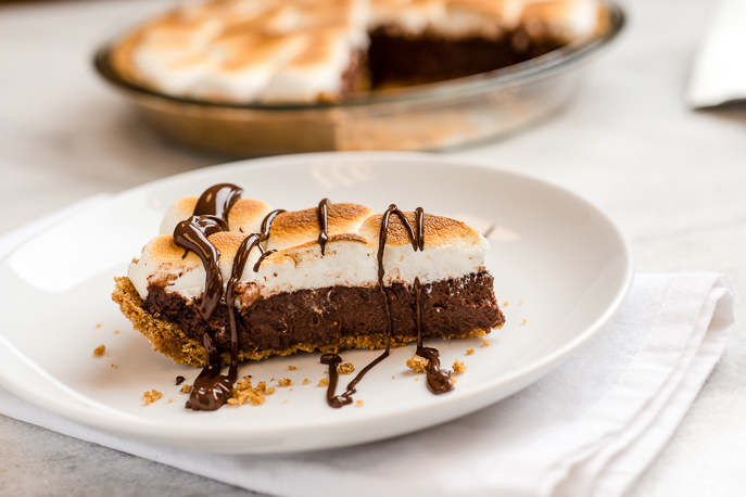 S'mores Pie from Everyday Good Thinking, the official blog of @hamiltonbeach
