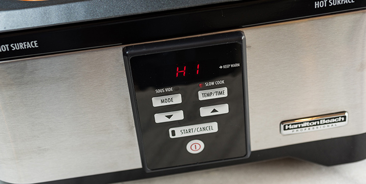 Hamilton Beach Professional Sous Vide Slow Cooker Controls