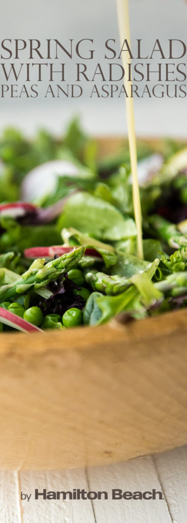 spring salad with radishes peas and asparagus