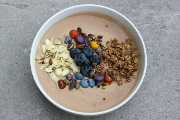 Chocolate Trail Mix Protein Smoothie Bowl