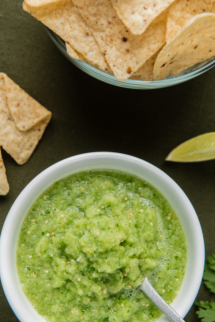 Tomatillo Salsa - perfect for Cinco de Mayo! From Everyday Good Thinking, the official blog of @hamiltonbeach