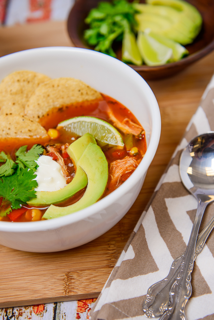 Turkey Tortilla Soup from Everyday Good Thinking, the official blog of @HamiltonBeach #Thanksgiving #leftovers