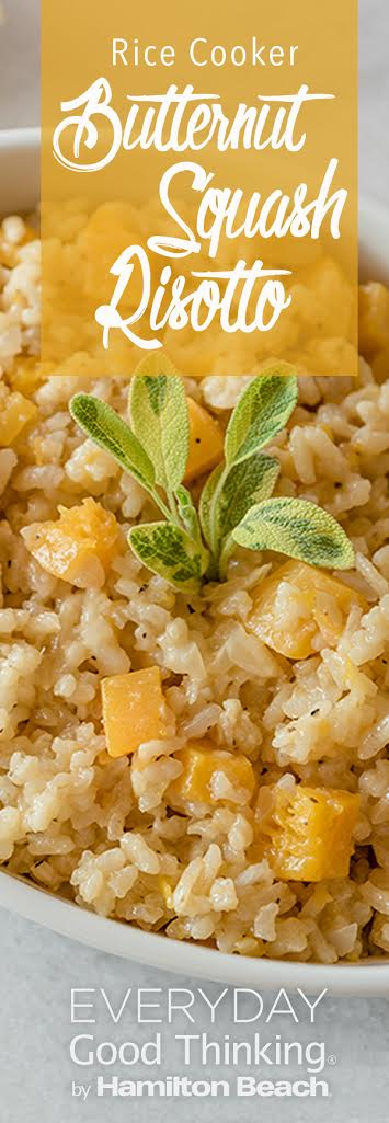 Rice Cooker Butternut Squash Risotto Pinterest Graphic