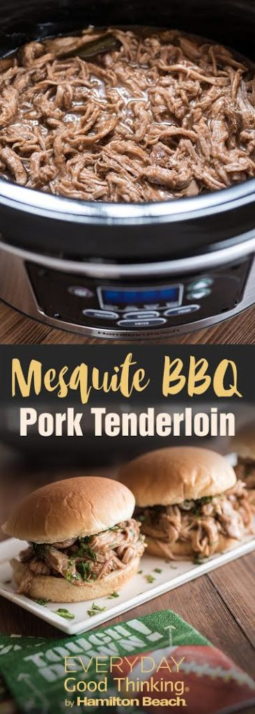 Slow Cooker 4-Ingredient Mesquite BBQ Pork Tenderloin