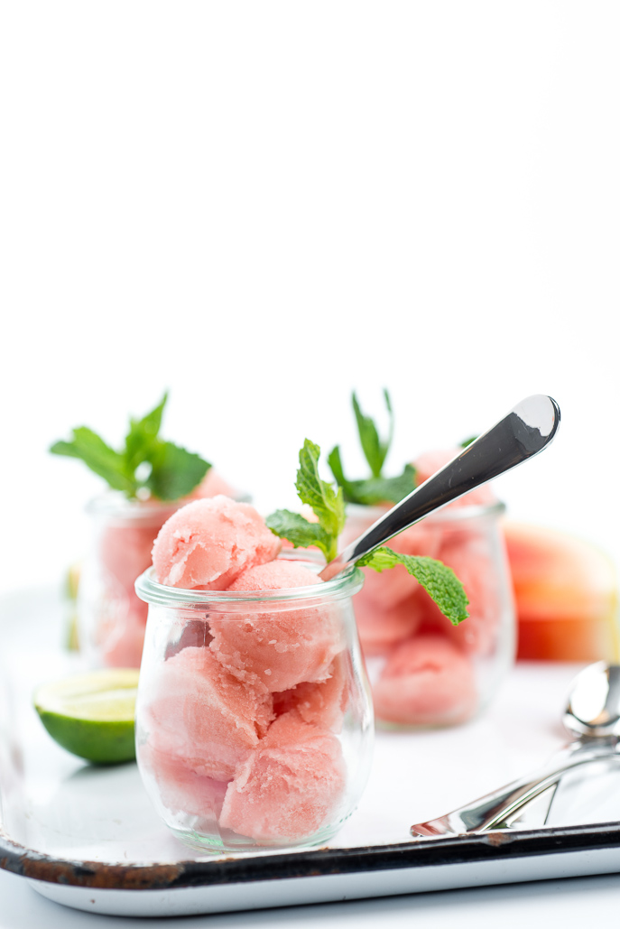 Perfect for summer! Watermelon Lime Mint Sorbet from Everyday Good Thinking, the official blog of @hamiltonbeach