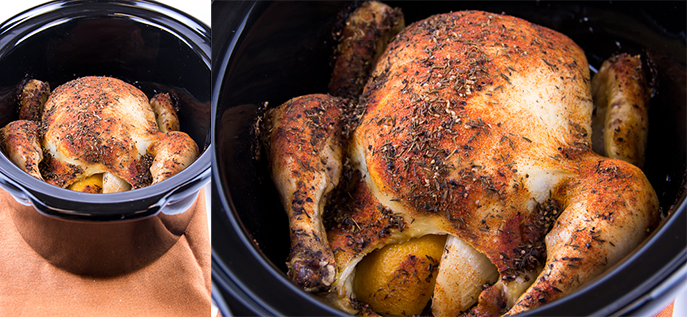 Slow Cooker Whole Roast Chicken from Everyday Good Thinking, the official blog of @HamiltonBeach