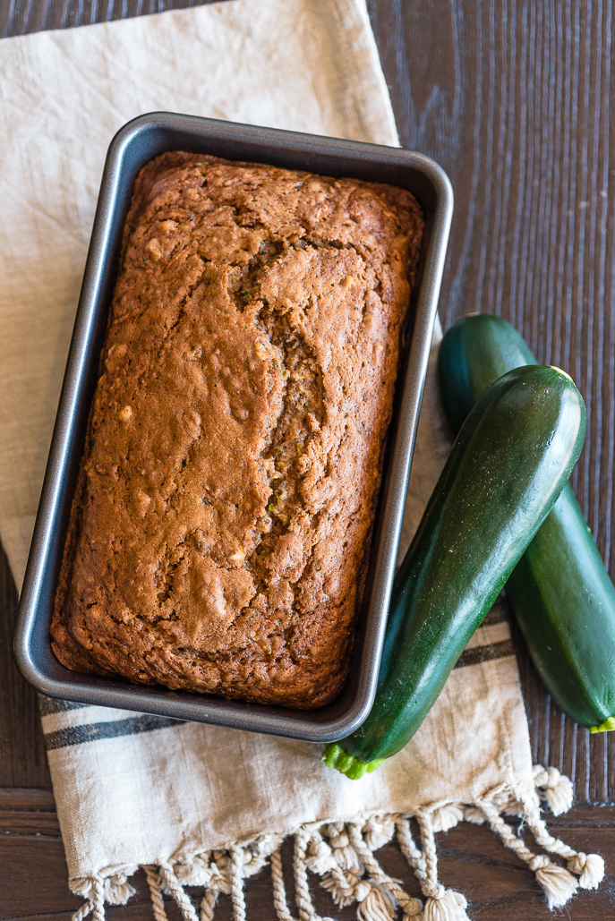 Zucchini Bread is great for using summer zucchini (it's everywhere!) – Chop it in a food processor to save time!