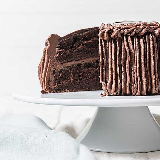 Triple chocolate cake
