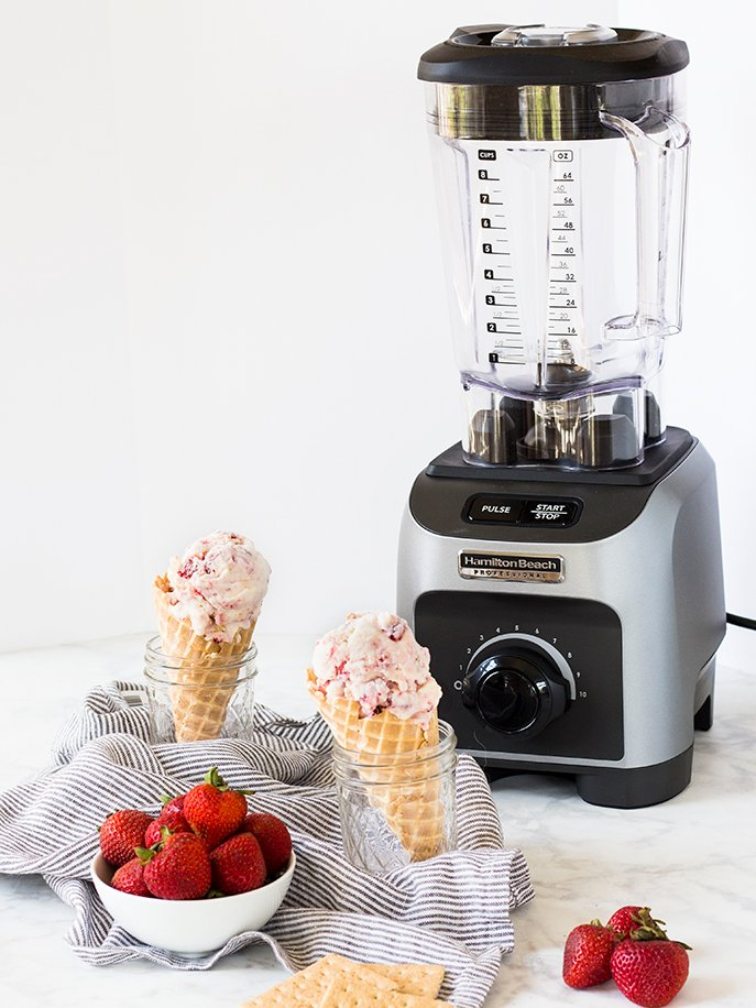 Blender Strawberry Cheesecake Ice Cream