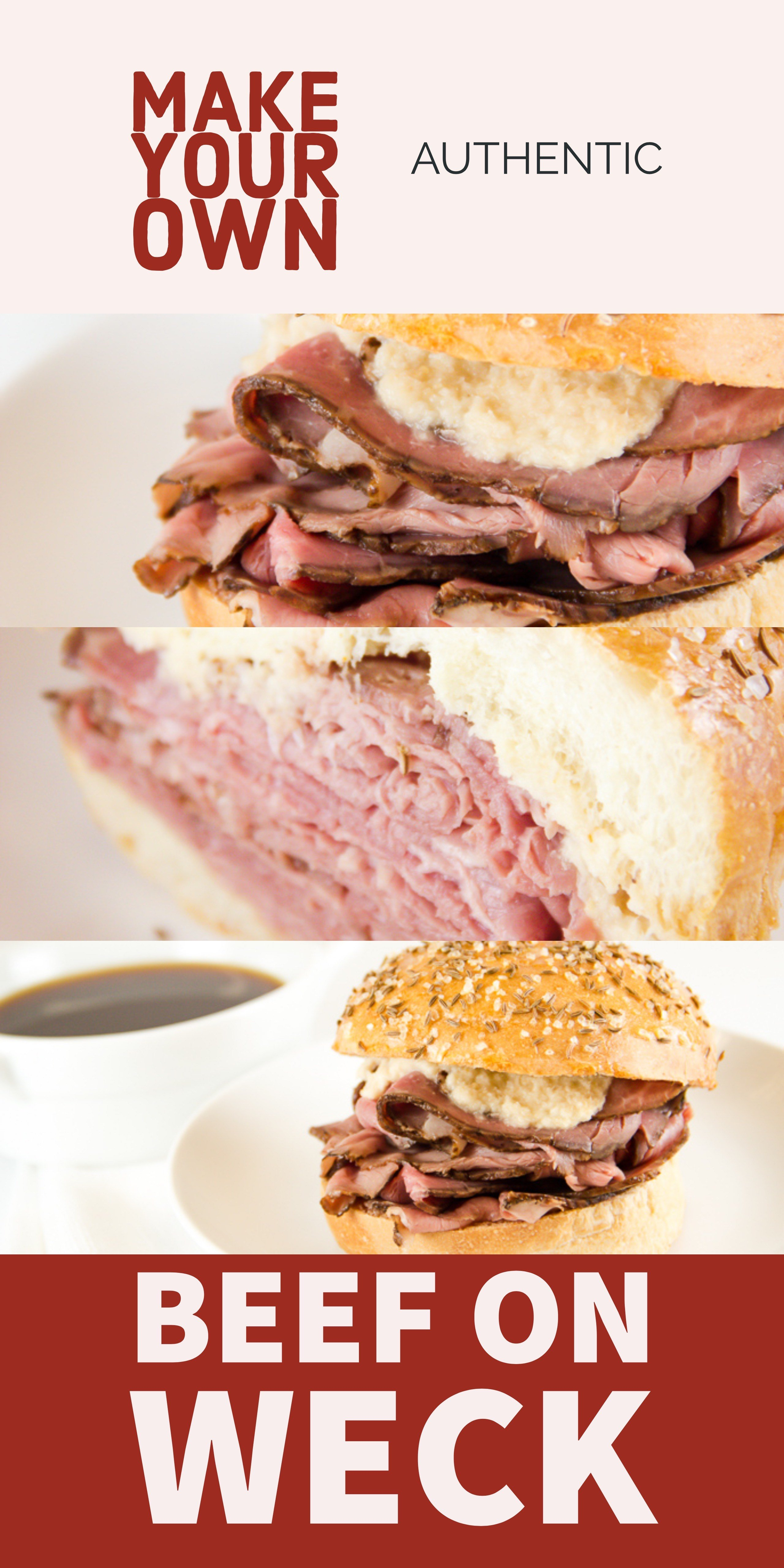 Make Your Own Beef on Weck Sandwich