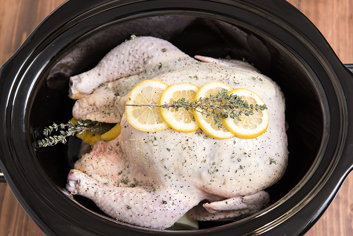 Slow Cooker Lemon Thyme Chicken
