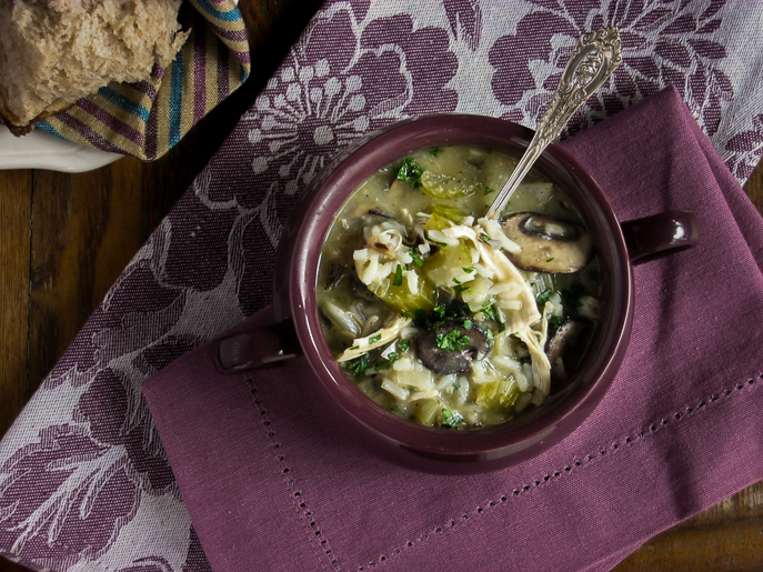 Slow Cooker Chicken and Wild Rice Soup from Everyday Good Thinking, the official blog of @hamiltonbeach