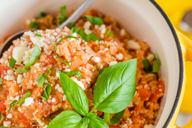 Couscous with Tomato and Feta