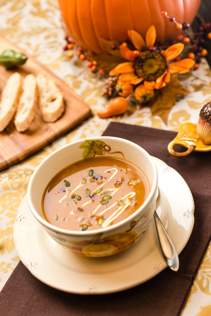 Slow Cooker Pumpkin Soup from Everyday Good Thinking, the official blog of @hamiltonbeach