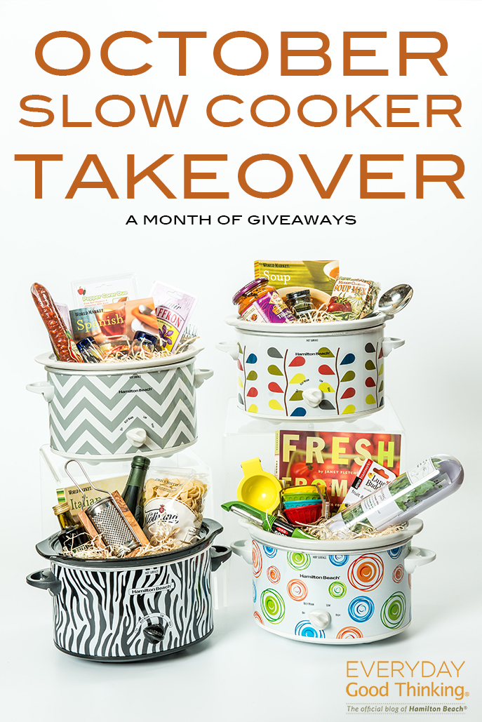 October Slow Cooker Takeover: A Month of Giveaways from Everyday Good Thinking, the official blog of @HamiltonBeach