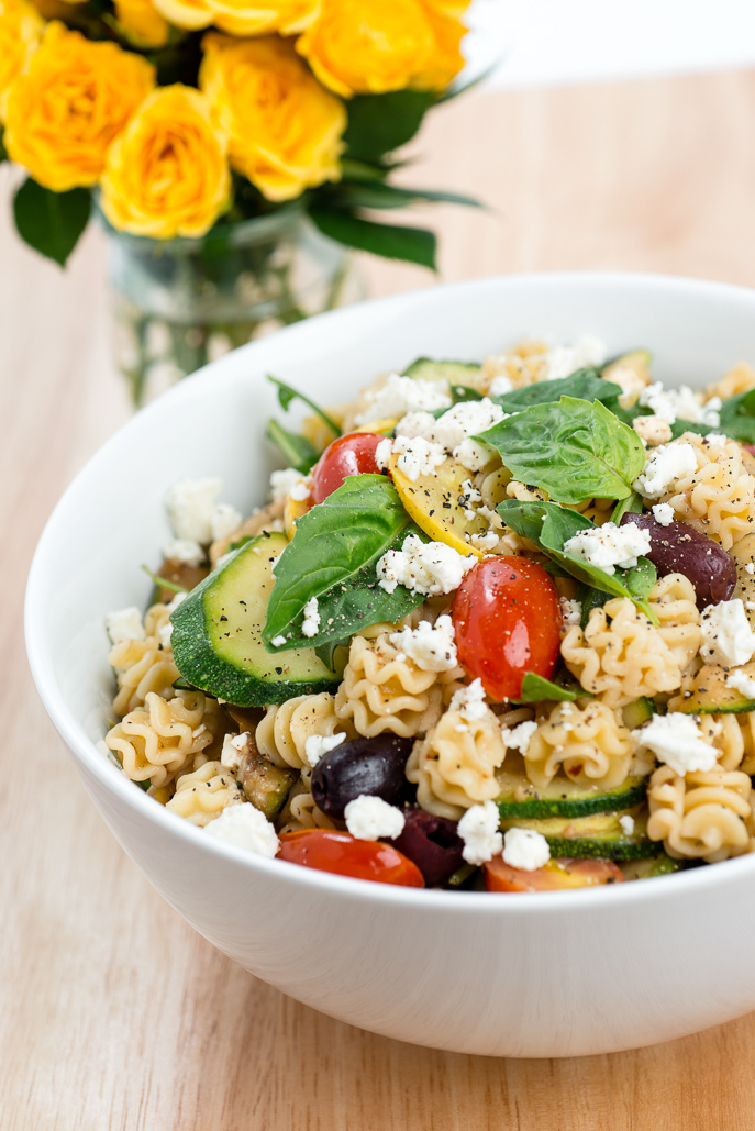 Spicy Summer Vegetable Pasta makes good use of zucchini, squash and tomatoes this time of year! Everyday Good Thinking, the official blog of @hamiltonbeach