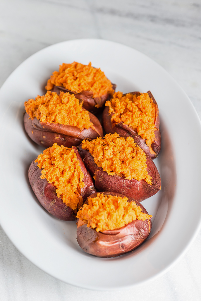 Baked Sweet Potatoes with Sweet Cinnamon Butter and Savory Herb Butter - perfect to please both types of sweet potato lovers at Thanksgiving this year! From Everyday Good Thinking, the official blog of @hamiltonbeach